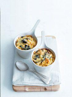 spinach mac + cheese