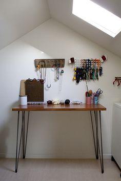 DIY desk by kate / for me, for you, via Flickr