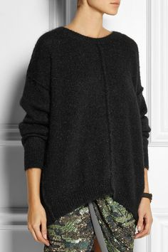 Isabel Marant | huge sweater and sparkly skirt