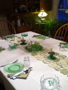 Table setting st pats day at ripples inn