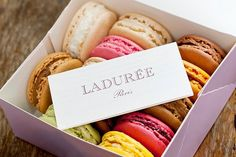 "Macarons from Ladurée. My favourite? Maybe the ""macaron à la pistache""."