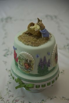 Beatrix Potter Cake ~ hand painted and all edible