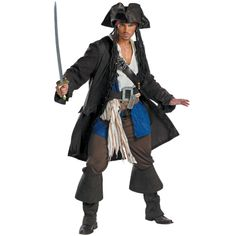 Pirates of the Caribbean - Captain Jack Sparrow Prestige Adult Costume from BuyCostumes.com #Halloween