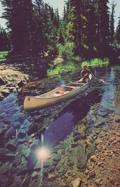 <3 looks amazing.. where ever this is I wanna canoe, camp, and explore it :)