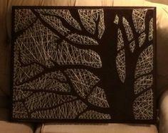 Nail and string art made by Rachel Lee nail string art, nails and string art, nail and yarn art, string and nail, stringart, nail and string art