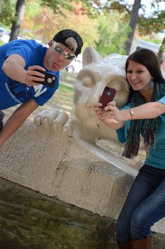 Penn State Altoona students are always including the Lion in their photos!