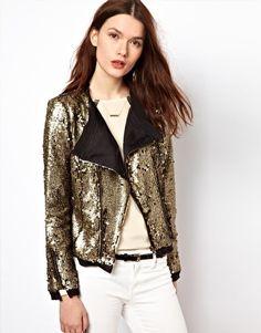 Enlarge Aryn K Sequin Kimono Jacket