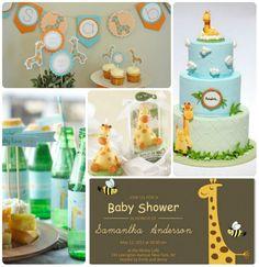 giraffe baby shower inspiration