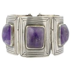 Check out this item at One Kings Lane! Early Mexican Silver Amethyst Bracelet