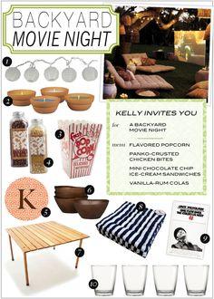 backyard movie night, backyard movies, movi night, summer nights, date nights, candl, movie nights, movi fun, parti