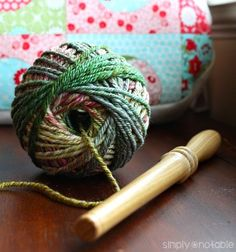 Wind A Center Pull Ball of Yarn | SimplyNotable.com