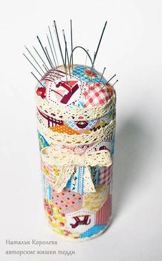 Делаем игольницу из баночки - Ярмарка Мастеров - ручная работа, handmade