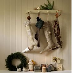Hang Christmas stockings