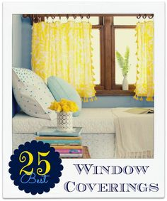 25 window covering ideas remodelaholic.com #drapery #windows