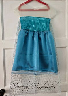 Heavenly Handmades: DIY Elsa from Frozen Dress