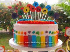 rainbow cakes, parti cake, rainbows, color rainbow, rainbow parti