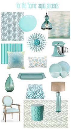 aqua accents for the home from @Centsational Girl