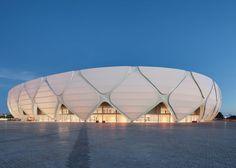 Manaus stadium by GMP Arkitechten hosts four World Cup football matches.