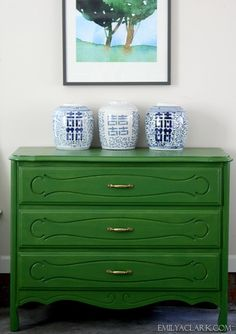 green painted chest - MS Caper Berry
