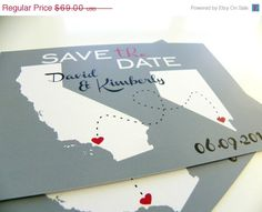 @Cynthia Anne  Cute idea for a Destination Wedding - Save the Date Postcards Custom State Wedding Map by DefineDesign11, $62.10 destinations, save, dates, map, long distance relationships, postcard, cards, country, destination weddings