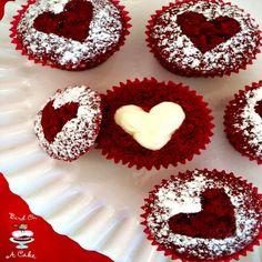 Hidden Heart Red Velvet Cupcakes