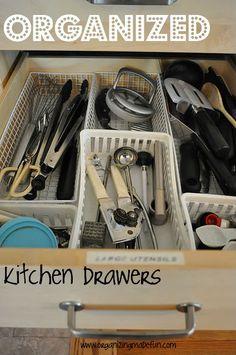 How I Organize My Kitchen Drawers | OrganizingMadeFun.com