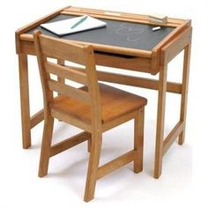 Old School Desk with Chalkboard Top and Chair $79.99