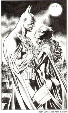 Batman and Catwoman  by Alan Davis
