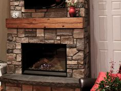 Refaced fireplace on Pinterest