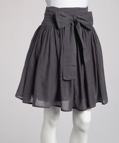 Take a look at this Charcoal Bow Skirt by Sweet Sinammon on #zulily today!