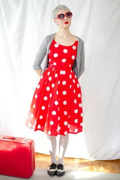 Not the shoes but the dress is cute