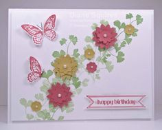 SU Papaya Collage, Itty Bitty Banners, Bitty Banners Framelits, Boho  Blossoms punch