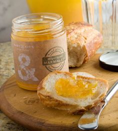 Meyer Lemon Marmalade made from organically grown lemons grown on the Clif Family Farm. $10/jar