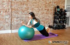 Got 5 minutes? Then you've got time to do this FUN & effective #core workout!   via @SparkPeople #abs #ball #fitness #exercise #video