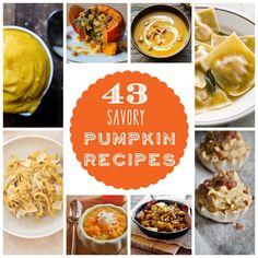 43 fabulous savory pumpkin recipes
