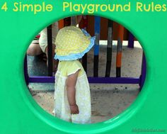 Click to read these simple playground rules  http://www.mojitomother.com/2013/03/four-simple-playground-rules/#