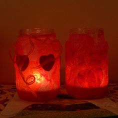 Valentine Tea Light Votive Holders