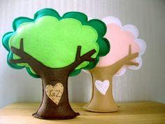 plush felt trees