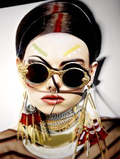 GOLDEN GIRL ANGEL Sunglasses by Mercura NYC Photographer: May Lin Le Goff