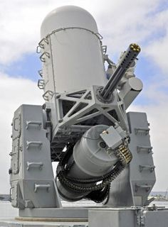 Phalanx CIWS (Close in Weapons System) - radar guided, computer controlled 20mm. Up to 4500 rounds per minute.