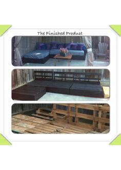 Our DIY pallet project - outdoor furniture