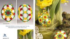 Easter with seed beads from the PRECIOSA Traditional Czech Beads brand