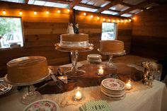 Southern Wedding Cake and Sweets Table