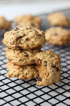 Grain-free Pistachio Chocolate Chip Cookies with Sea Salt – Gluten-free   Dairy-free (Vegan option)