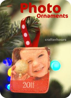 crafterhours: Fast, Easy, Inexpensive, Cute Photo Ornaments: A Tutorial