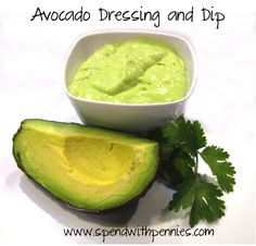 Avocado Dressing and Dip!  Delicious, healthy and very easy!