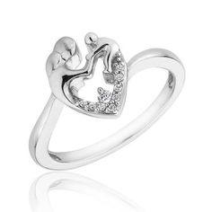 Mother's Heart Diamond Ring 1/20ctw - Item 19314707   REEDS Jewelers