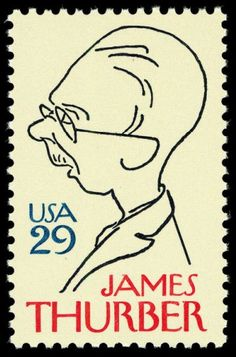 """Writer, humorist, cartoonist James Thurber's cartoons and short stories were mainly published in """"New Yorker"""" magazine."""