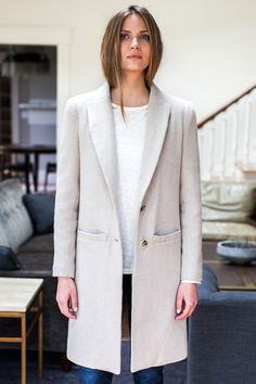 Tailored Coat - Fawn | Emerson Fry