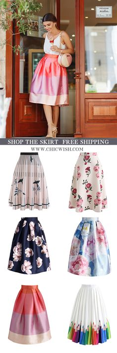 Free Shipping & Easy Return. Up to 30% Off. Chicwish Midi Skirts featured by larisacostea. Shop for the cutest skirt at chicwish.com. #outfit #clothing #springfashion #fashion #casualoutift #outfitidea #skirt #printskirt #partyskirt #midiskirt #datingoutfit #summeroutfit #womenfashion #clothing